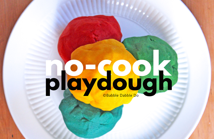 Learn how to make no-cook playdough, even kids can make this!