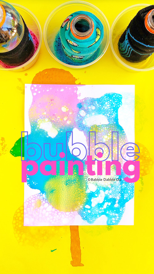 Bubble painting is a wonderful process art project for kids and a great outdoor creative activity.