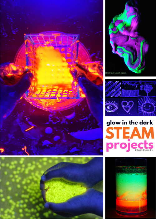 These glow in the dark projects with a STEAM focus are sure to delight kids and adults alike!