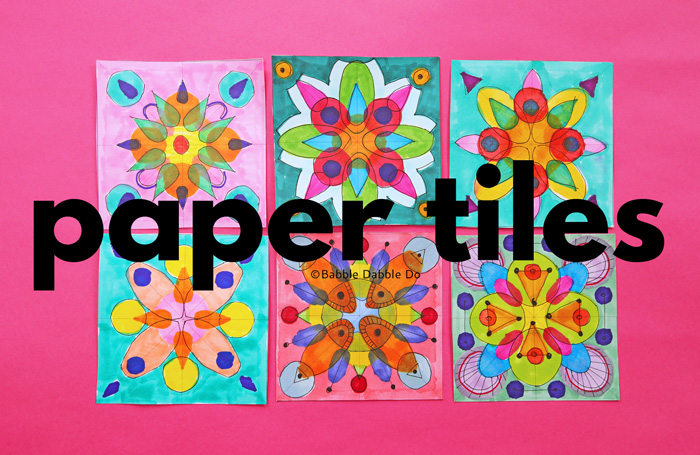 This geometric art project uses symmetry and axes to create lovely paper tiles! Make a few and display them together