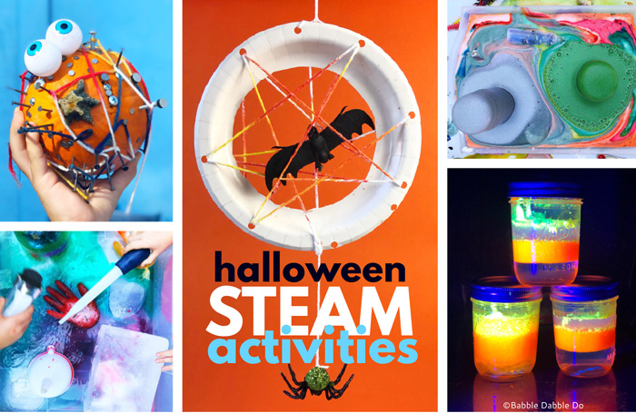 Calling all brain surgeons and mad scienctists, here are 10+ Easy STEAM based Halloween activities with a creepy twist to try this holiday!