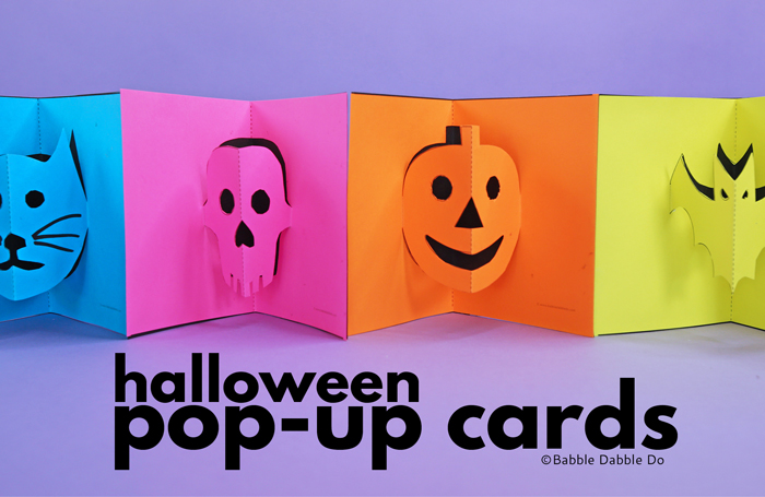 How to Make Halloween Pop-Up Cards