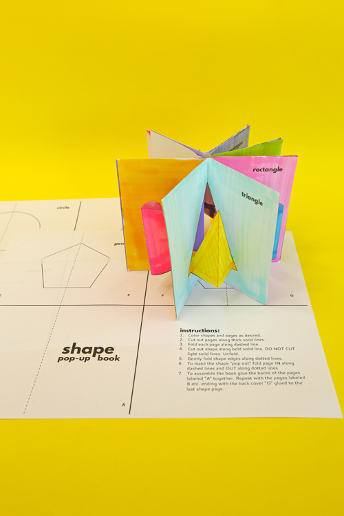 Make a simple shape pop-up book to help kids learn basic geometric shapes. This is a fun way to incorporate maker and math skills into a clever pop-up book!