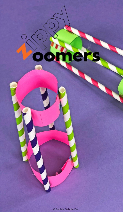 Easy DIY Flying Toy idea: Make Zippy Zoomers and watch them fly!