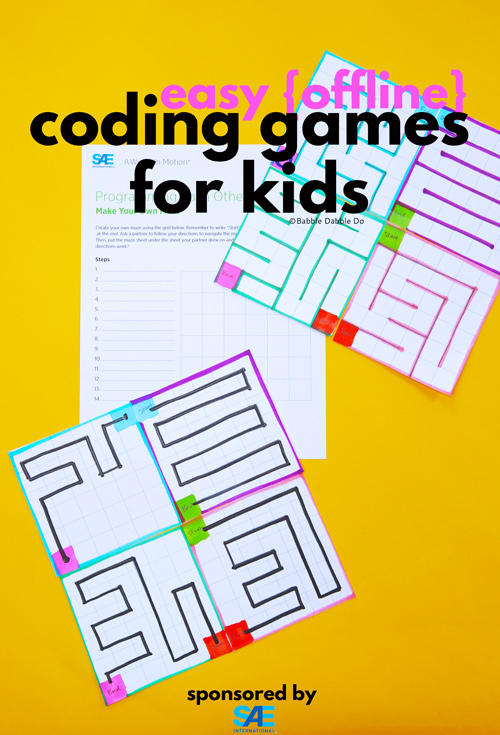 Introduce basic programming concepts with these easy coding games for kids! This is a great introduction to coding for kids!