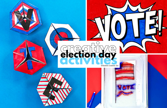 Teach kids about the importance of voting through these creative election day activities!