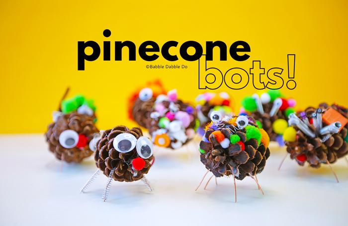 Pinecone Craft: Make Pinecone Animal Bots!