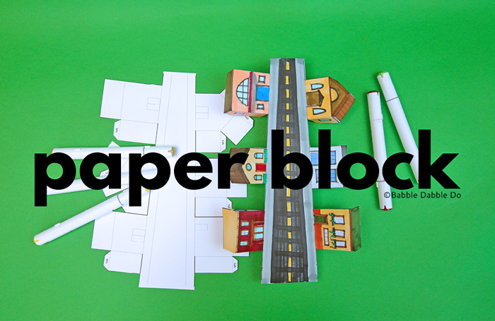 Create your own paper neighborhood block and learn about perspective in this fun printable activity!