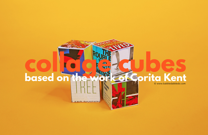 Collage Cubes: A Magazine Collage Art Project Inspired By Corita Kent