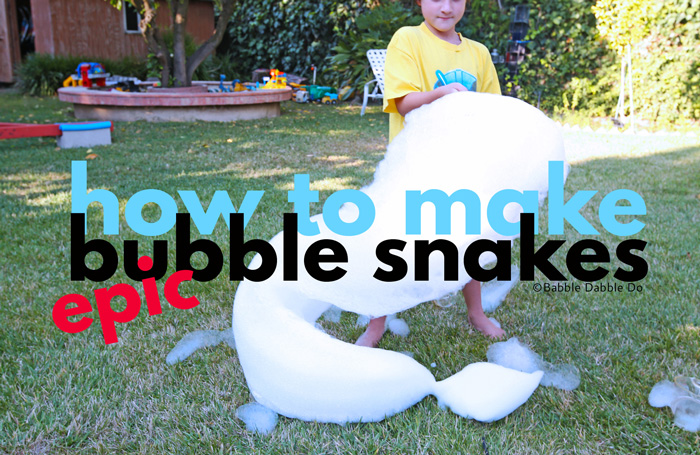 Make EPIC Bubble Snakes for the Best in Summer Fun
