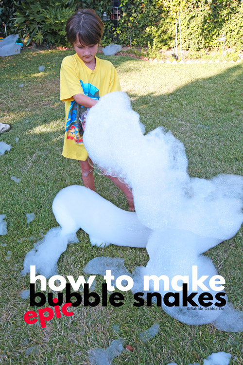 Supersize your bubble snakes with this simple method! Learn how to make a basic snake blower, an EPIC sized blower, and a rainbow blower.