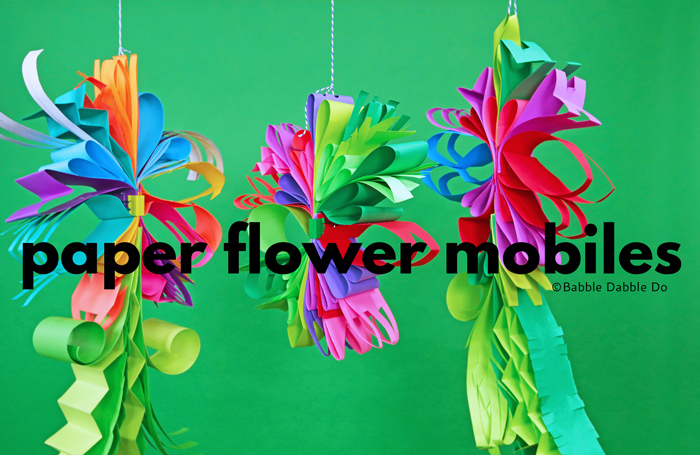 How to Make Gorgeous Paper Flower Mobiles