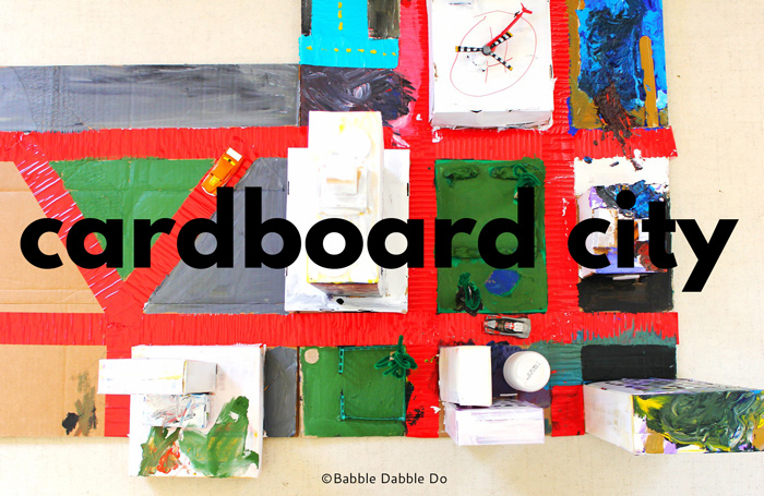 The Best DIY Toy Made from Recyclables: Make a Cardboard City