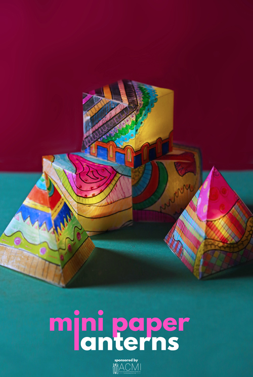 Let's create colorful mini paper lanterns using vellum and a variety of art supplies. Use them as party decorations!