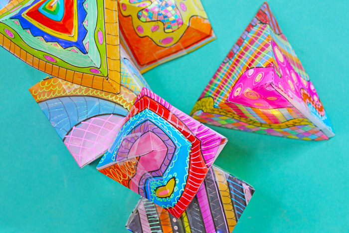 In this project we are going to create colorful mini paper lanterns using vellum and a variety of art supplies.