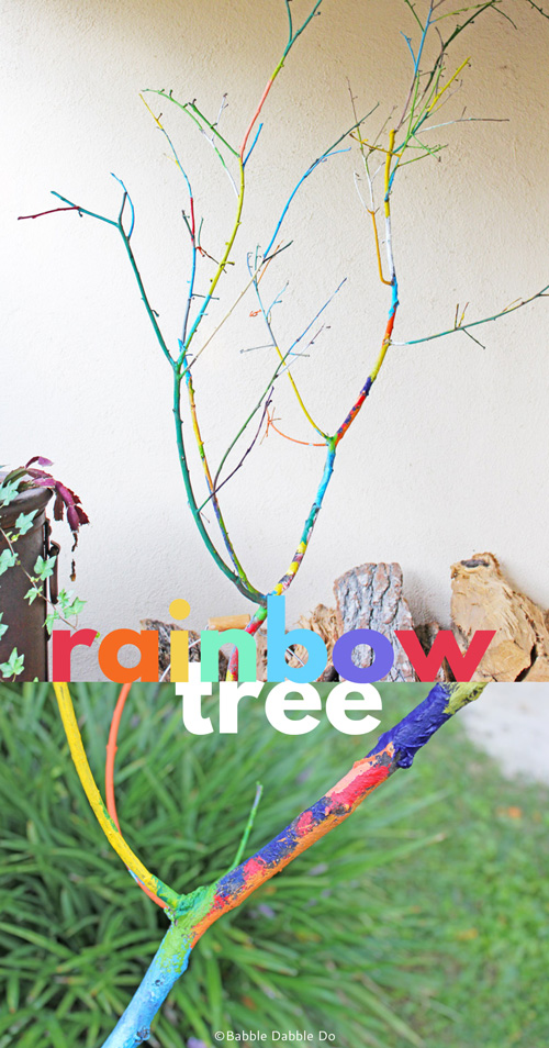 Today's simple but beautiful tree branch craft with brighten up your porch and be a memorable family project.